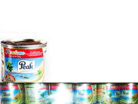 PEAK EVAPORATED MILK (TRAYS) - 24x170g
