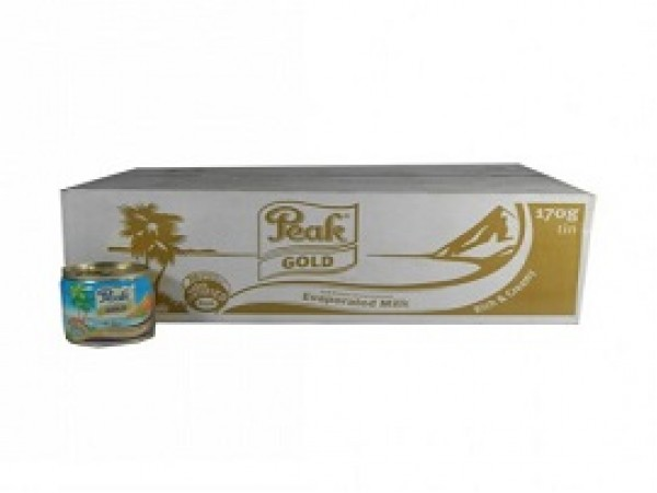 PEAK GOLD EASY OPEN EVAPORATED MILK (TIN) - 48x170g