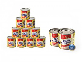 THREE CROWNS EVAPORATED MILK (TRAYS) 160g | ONE CARTON