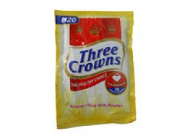 THREE CROWNS POWDERED MILK (STRINGED SACHET) 14g  | 1 CARTON